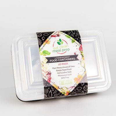 2 Compartment Food Storage Containers (10 Pack)
