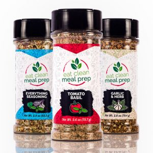 Taste of Italy 3 Spice Mix Blend Bottles by Eat Clean Meal Prep